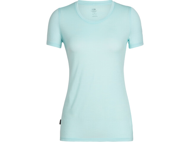 Icebreaker Tech Lite Low Crewe T-shirt Dames, aqua splash